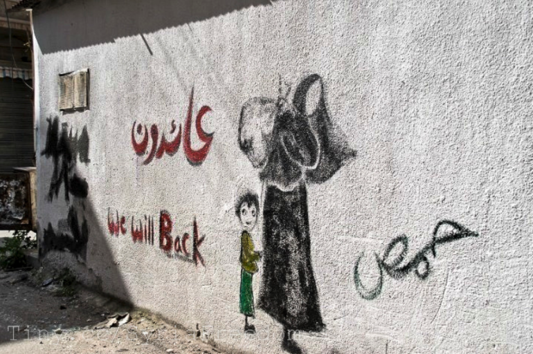 Homs, we'll be back, Syria