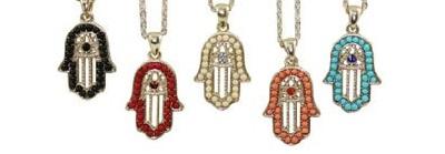 Women-s-Lucky-Jewelry-Hamsa-Hand-Evil-Eye-Pendant-Necklace-6cs-lot-Free-Shipping-S1203