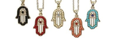Women-s-Lucky-Jewelry-Hamsa-Hand-Evil-Eye-Pendant-Necklace-6cs-lot-Free-Shipping-S1203