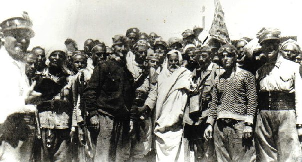 Mukhtar amongst his supporters
